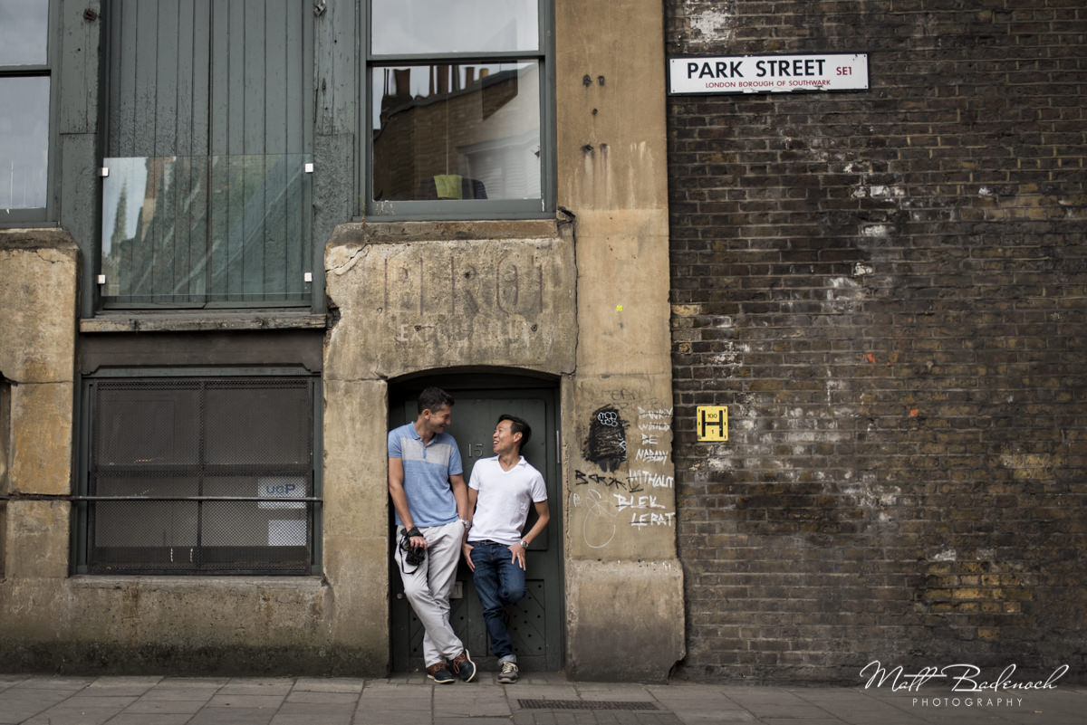 London Same sex engagement shoot