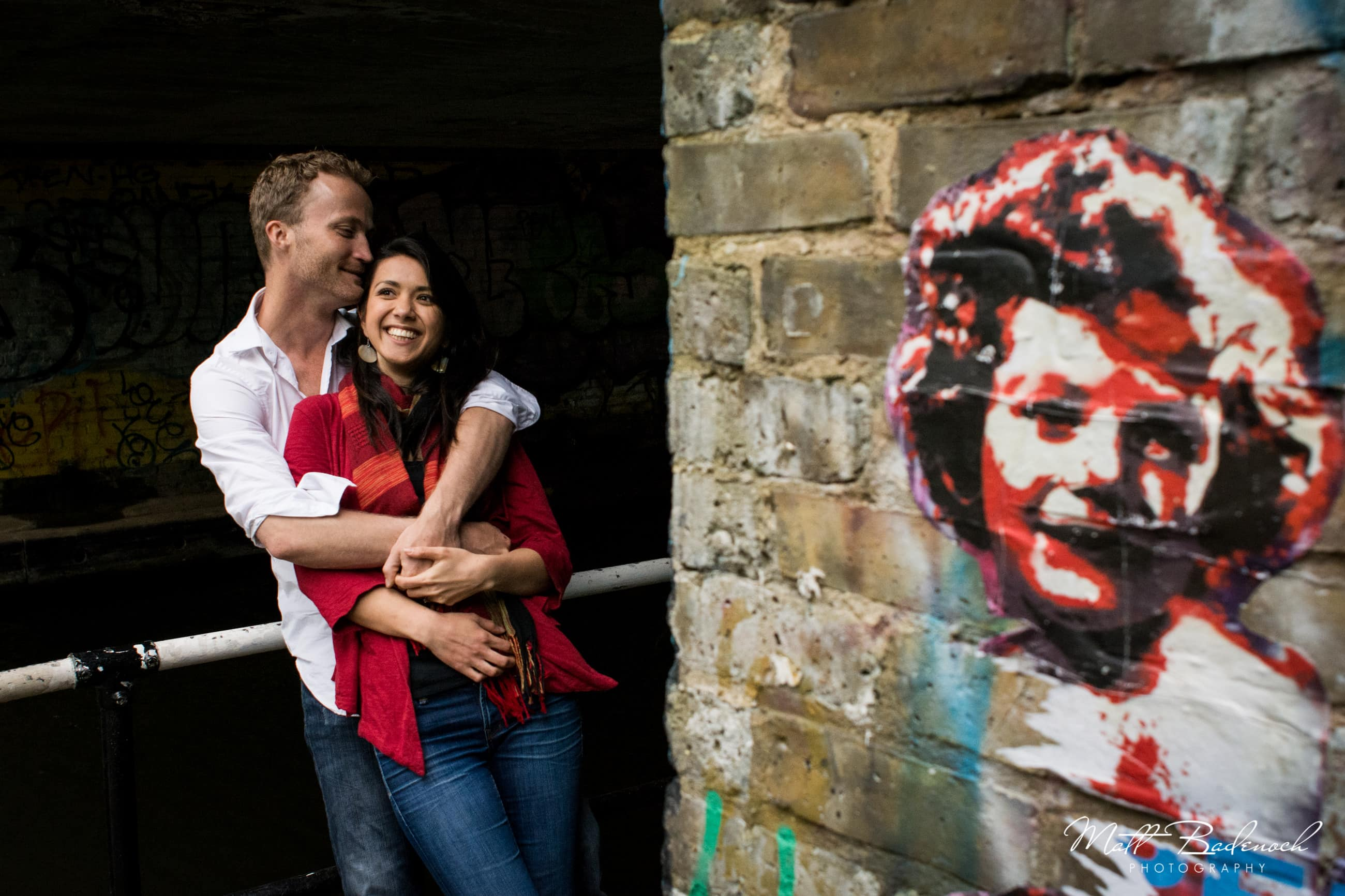 Fun london engagement shoot with Naomi Johns , Matt Badenoch Photography