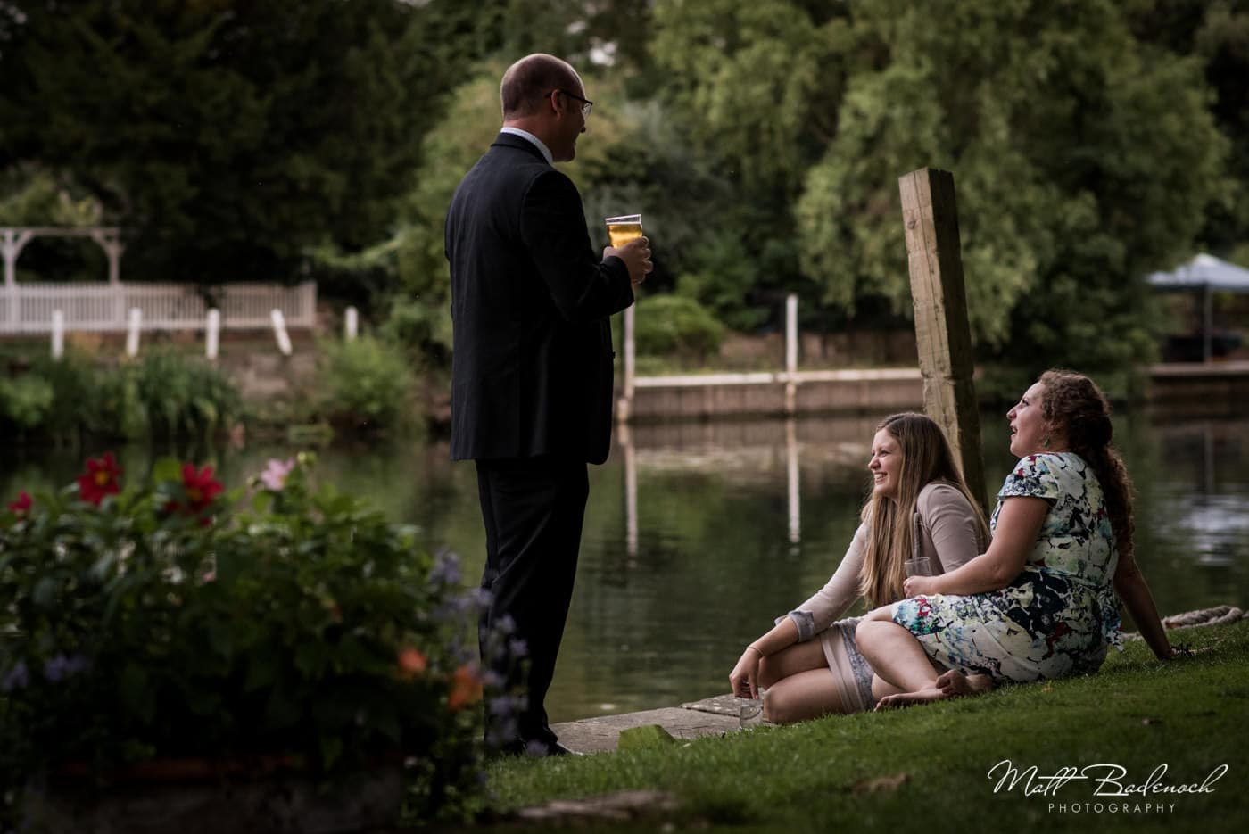 riverside marquee wedding photography