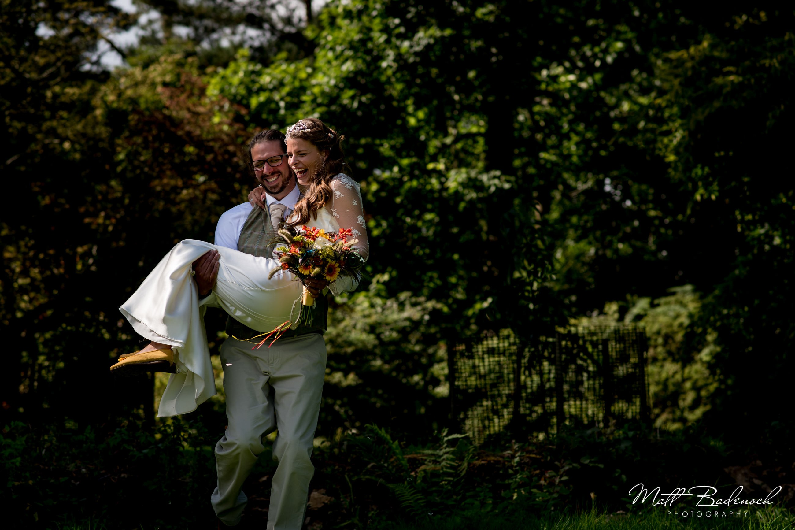 DIY back garden wedding photography, taken at Westonbirt in Somerset