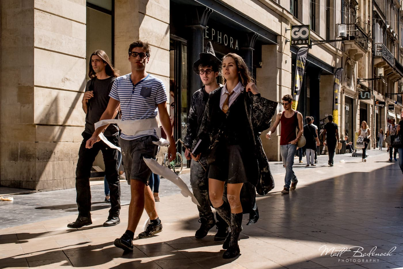 harry potter costumes in public | bordeaux street photography