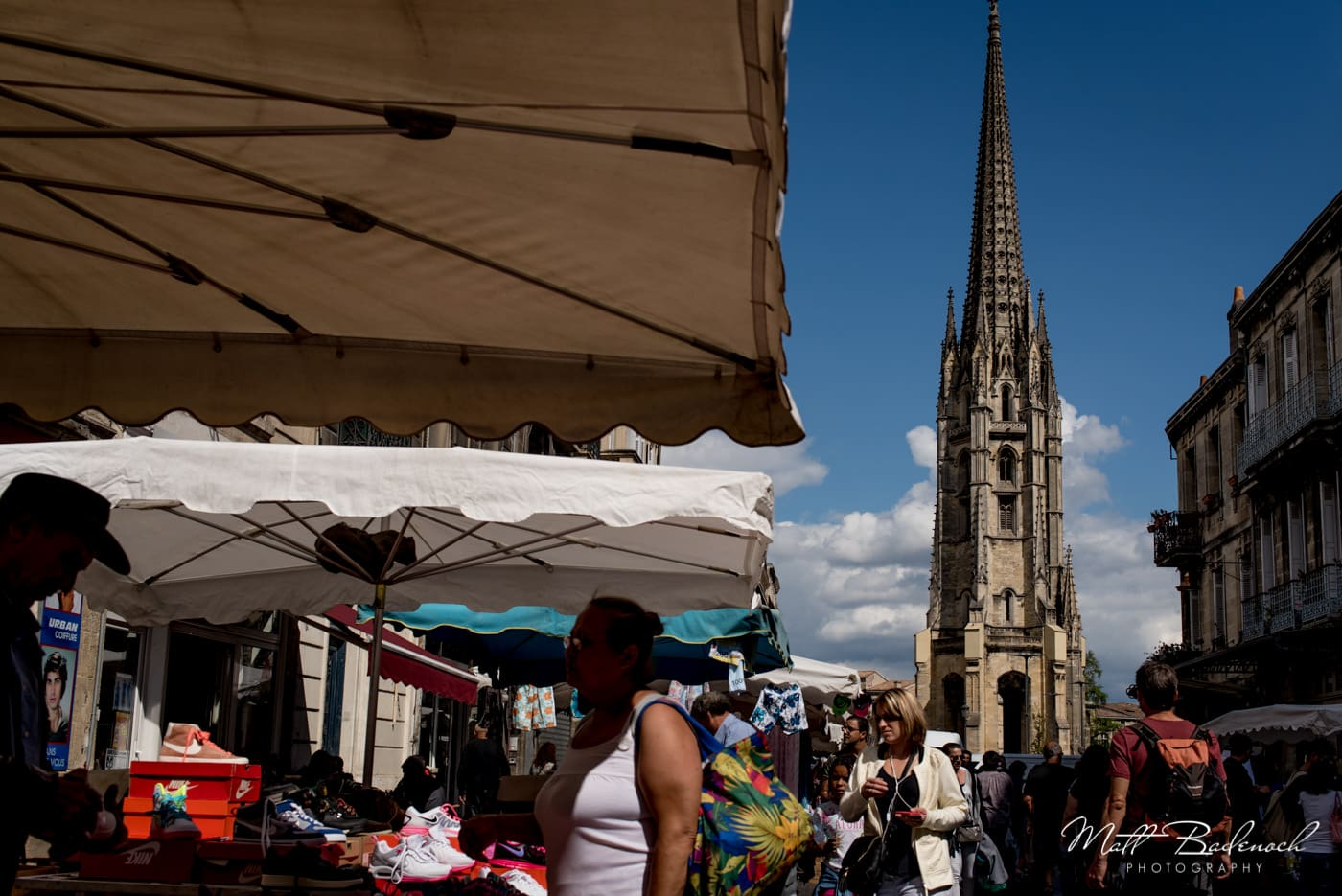 market and basilique Saint-Michel | bordeaux street photography