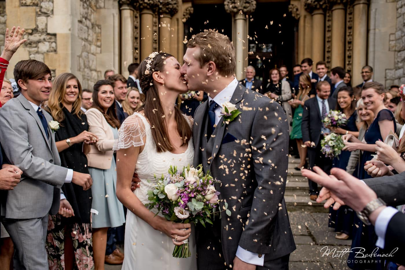 Confetti at St Mary's Old Church Wedding in North London