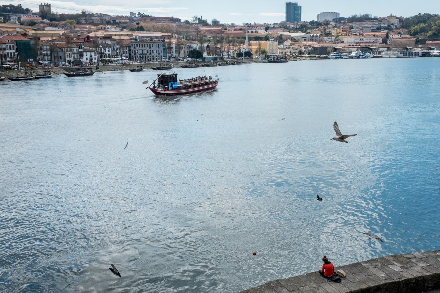 view of the river in Oporto, Portugal. Porto travel photos