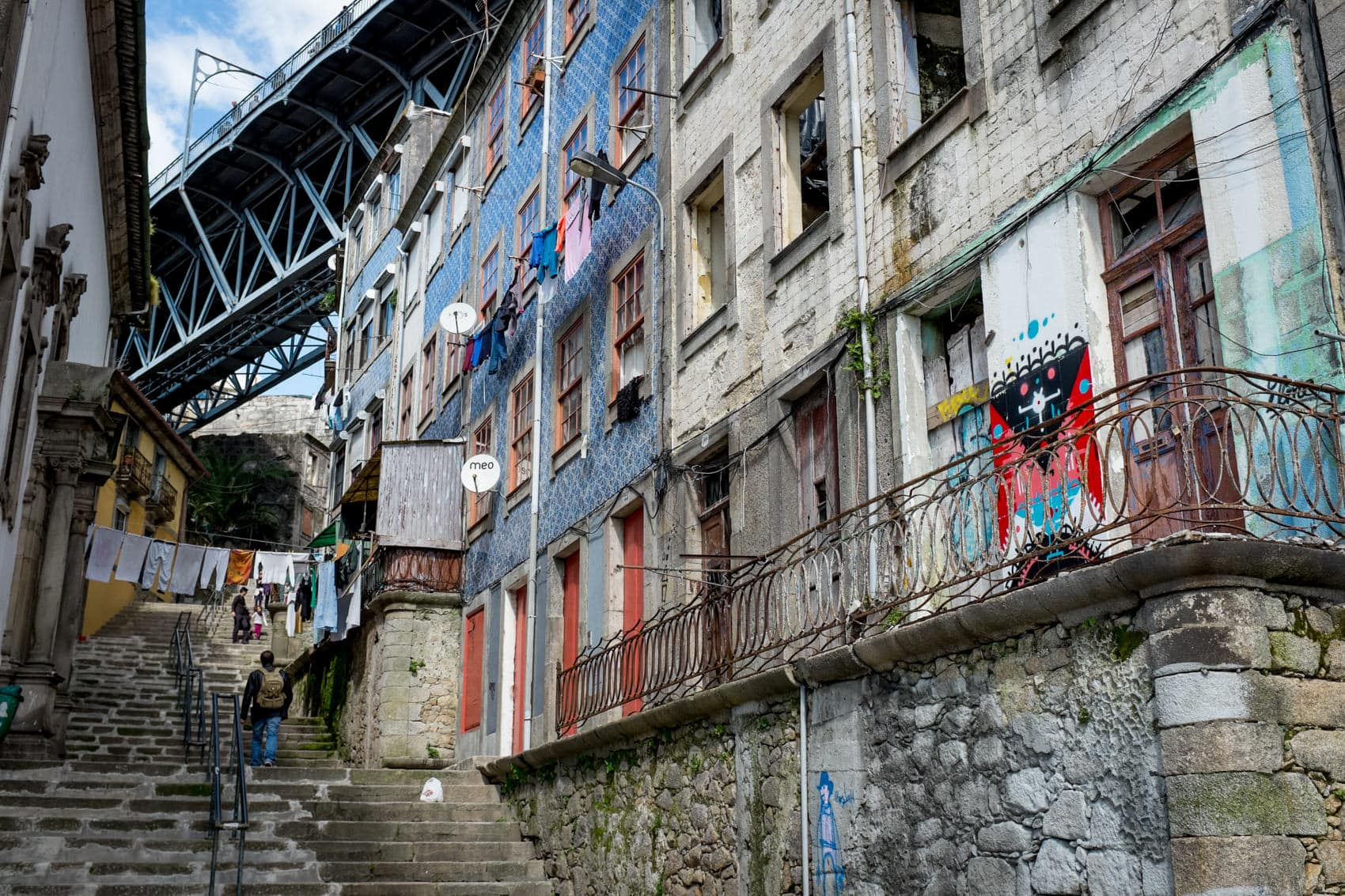 alley streets of porto, travel photography, portugal