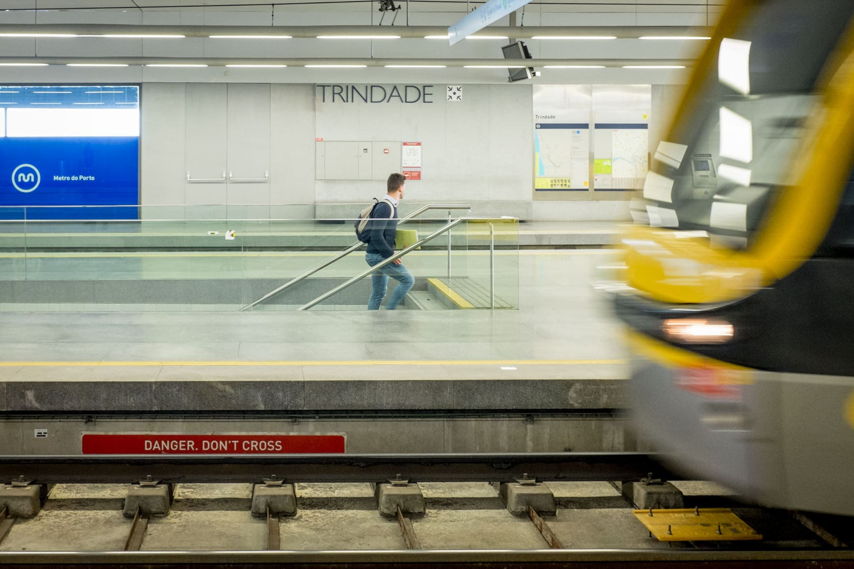 trindade station in porto, travel photography