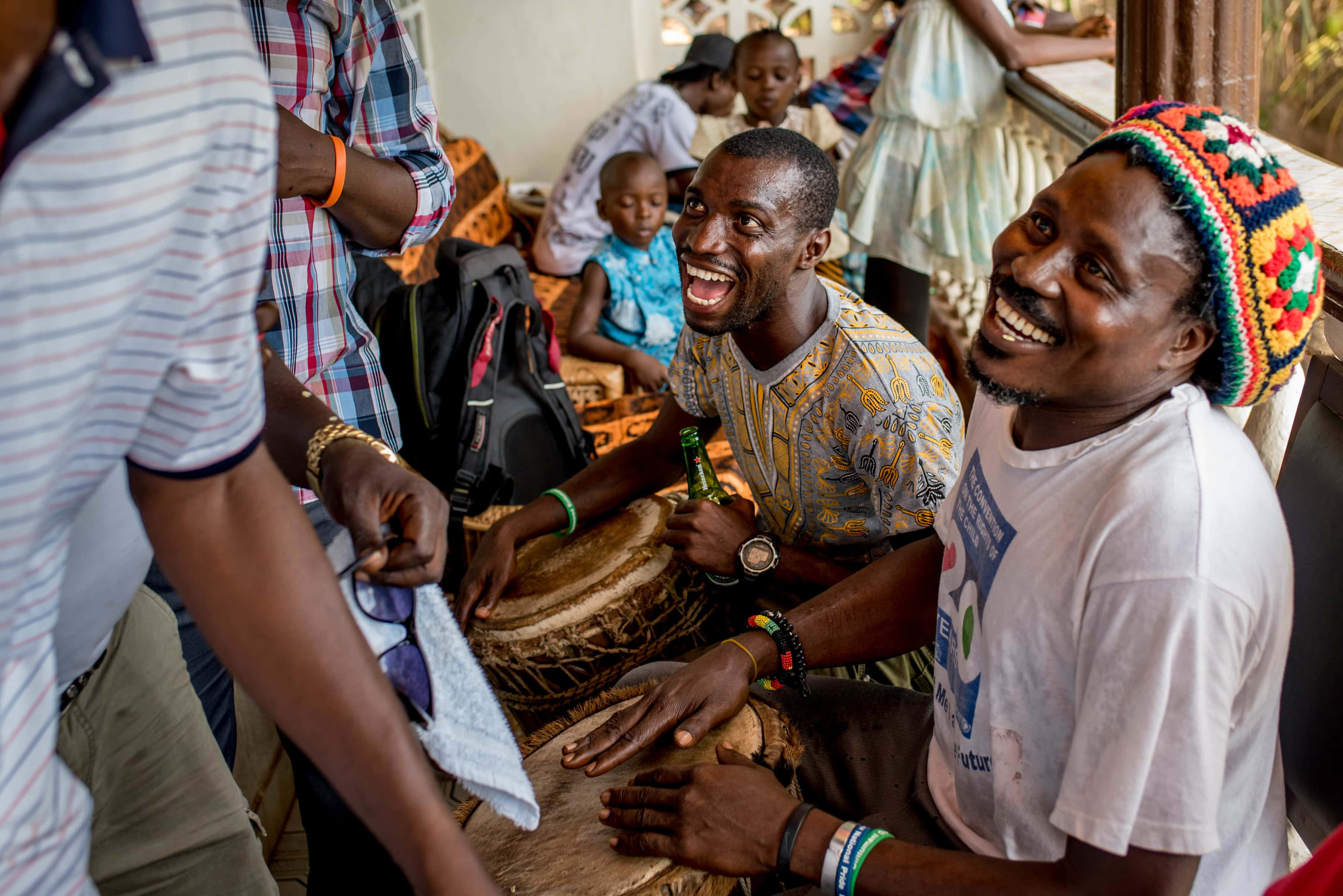African drummers, Sierra Leone Wedding Photography