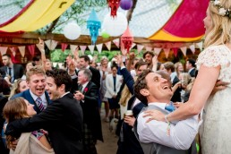 an alternative festival wedding in a very wet Scotland