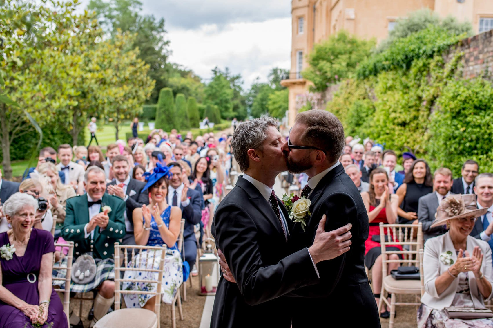 same sex wedding photographer at Bill and Gavin's gay Ditton Park wedding