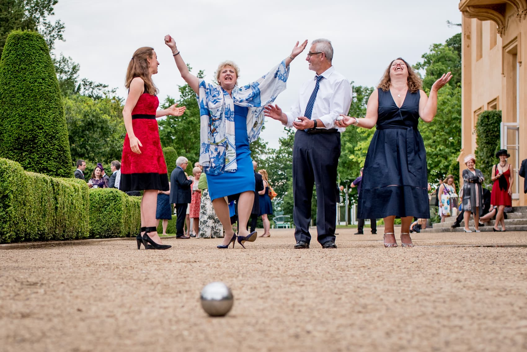 boules game at a wedding at Ditton Park