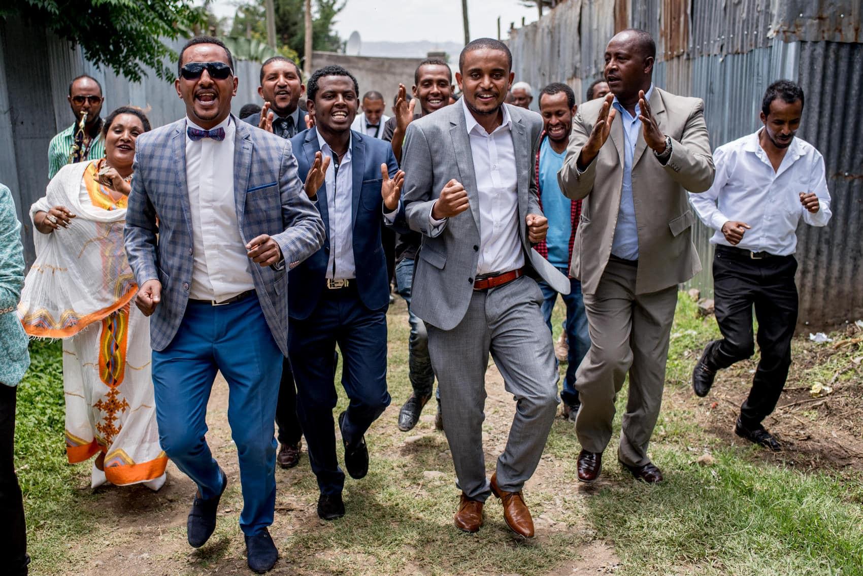 Ethiopian groom wedding celebrations