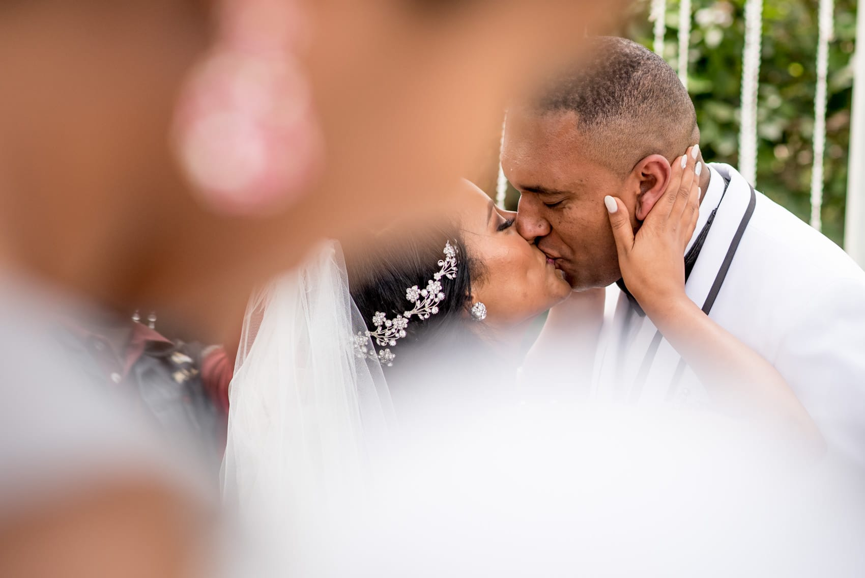 first kiss at an Ethiopian wedding