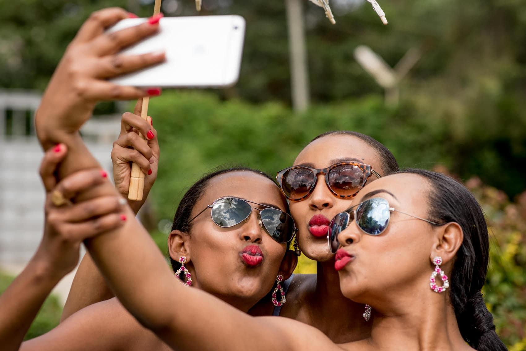 Ethiopian wedding selfy