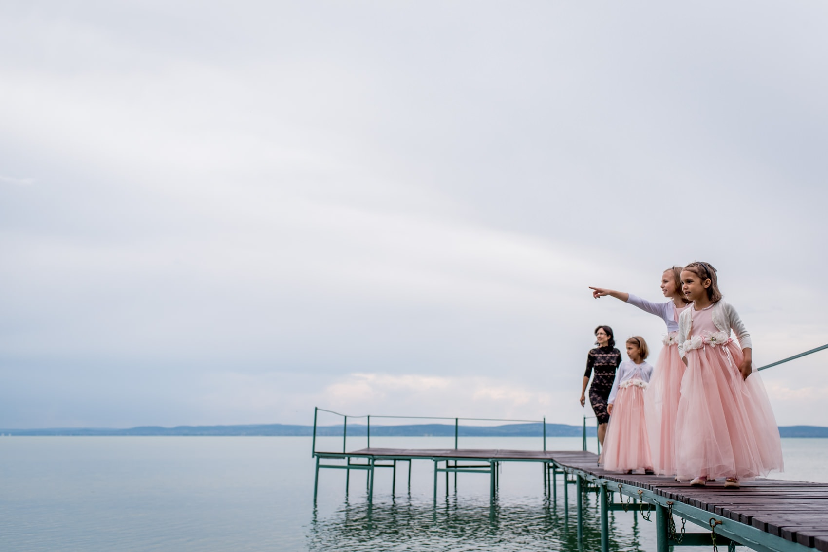 bridesmaids at Lake balaton in hungry