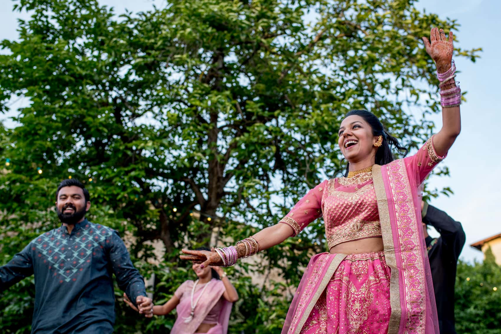 Indian dancing outside at the Giardino Corsini al Prato in Florence