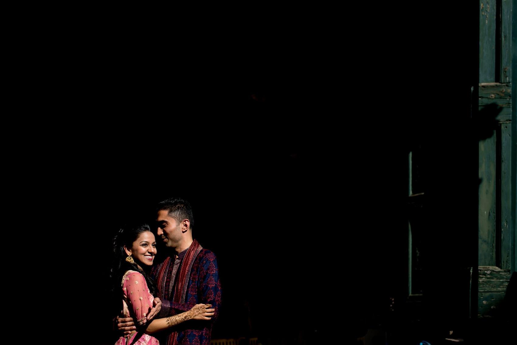 Couple in beautiful light at Giardino Corsini al Prato in Florence