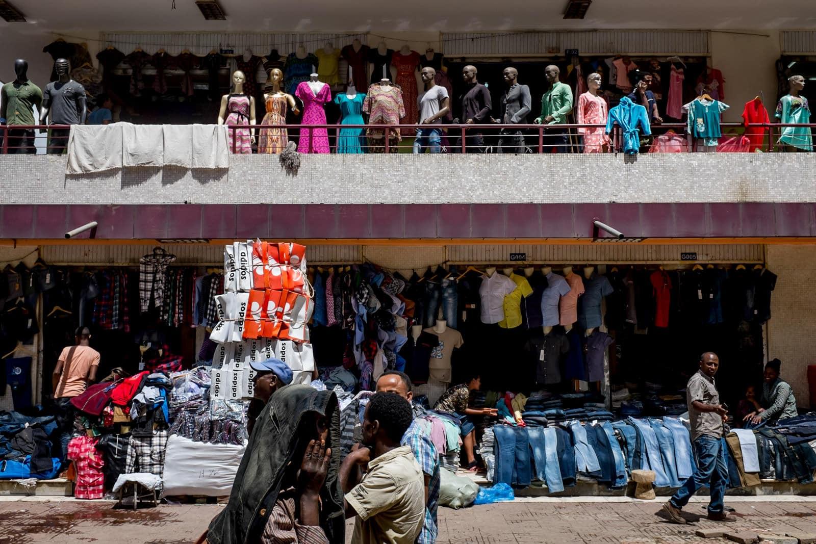Addis Merkato market in the capital of Ethiopia Addis Ababa