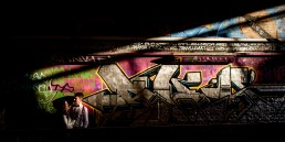 Graffiti engagement photography shoot in the Waterloo tunnels in central London