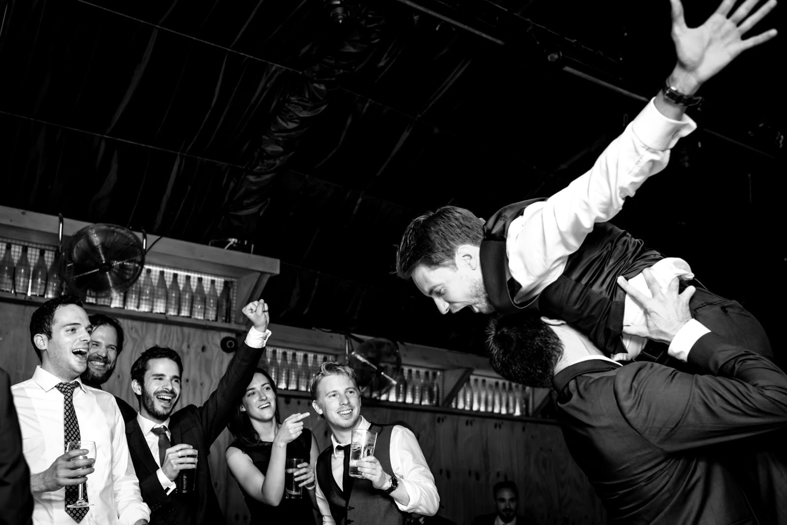 party time at this London Fields Brewery wedding