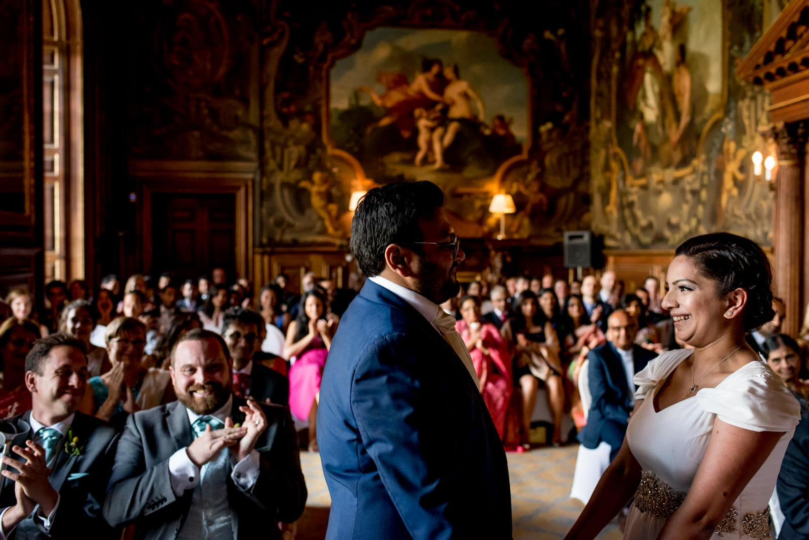 Indian Bride and groom ceremony at Moor Park Mansion