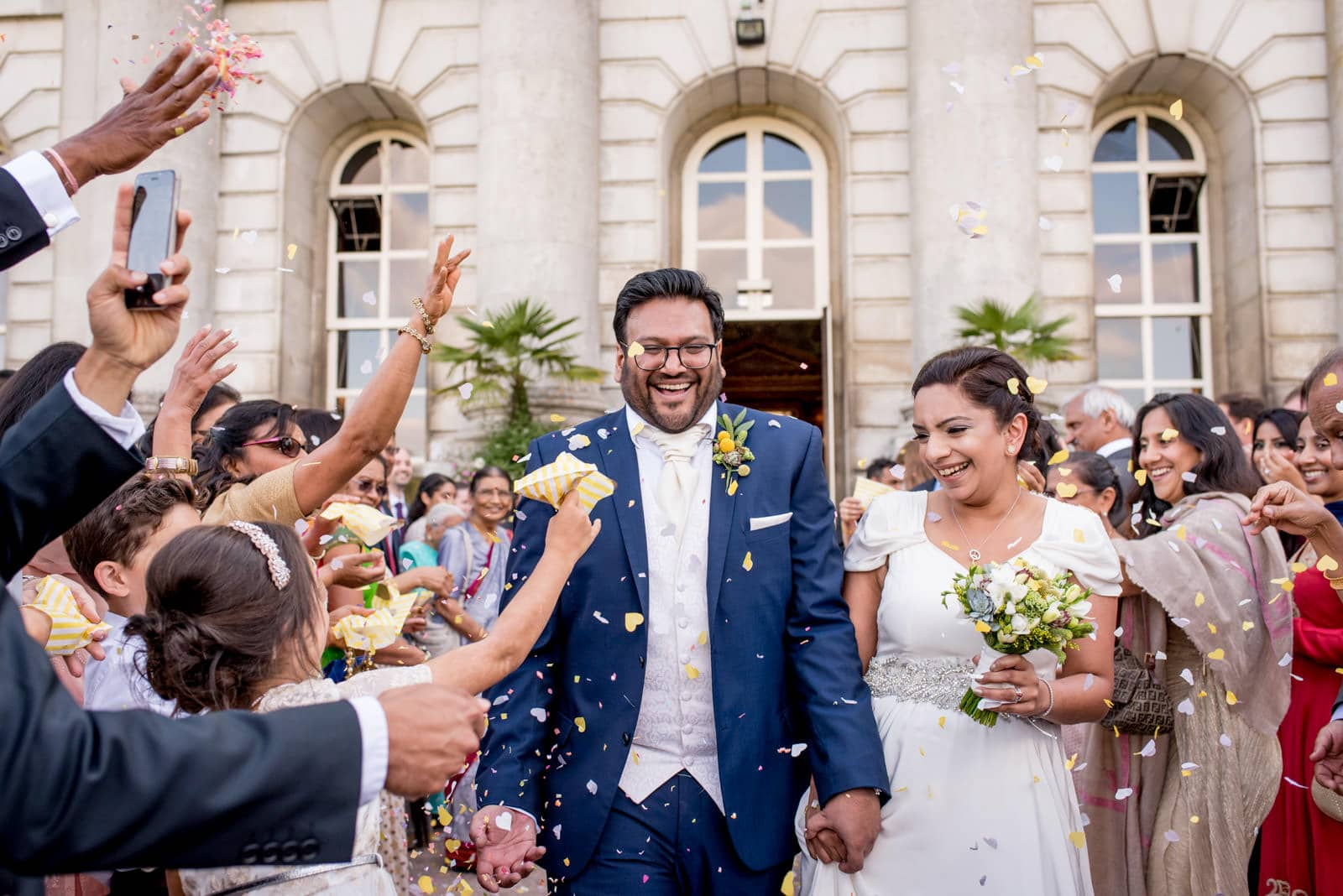 Confetti photo at a Moor Park Golf Club wedding