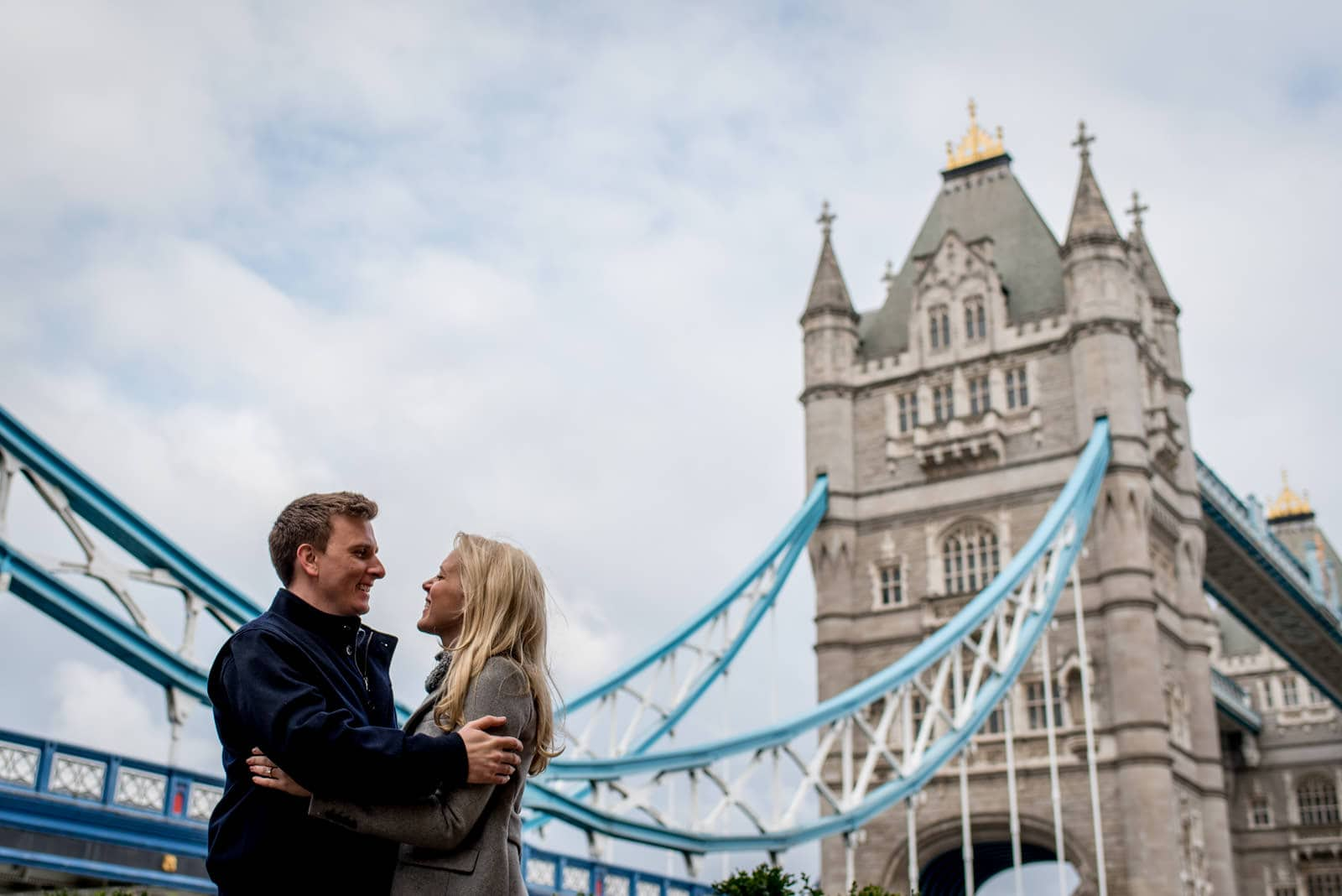 Couple in front of Tower Bridge