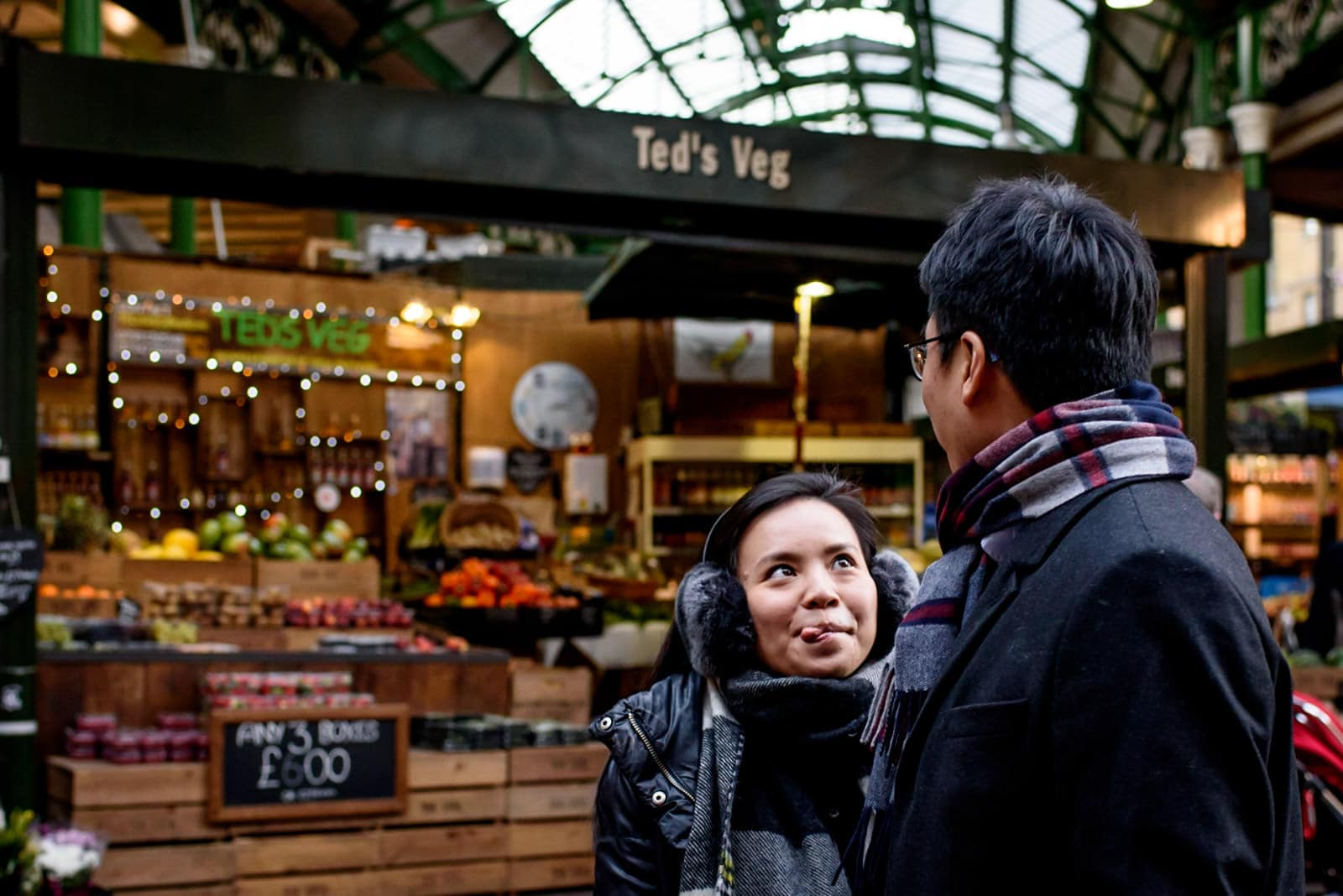 Borough market engagement photos