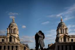 Photo of my proposing to his girlfriend at the Old Royal Naval College, one of the best London locations for a proposal