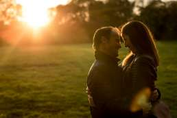 Photo of couple during their regents park engagement photo session