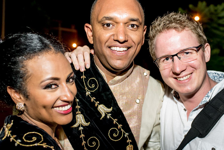 Matt from Matt Badenoch Photography with his Ethiopian Couple