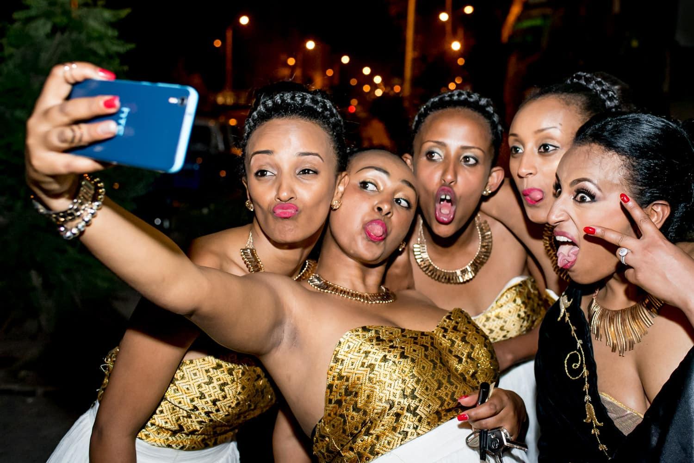 Ethiopian bridesmaids selfie