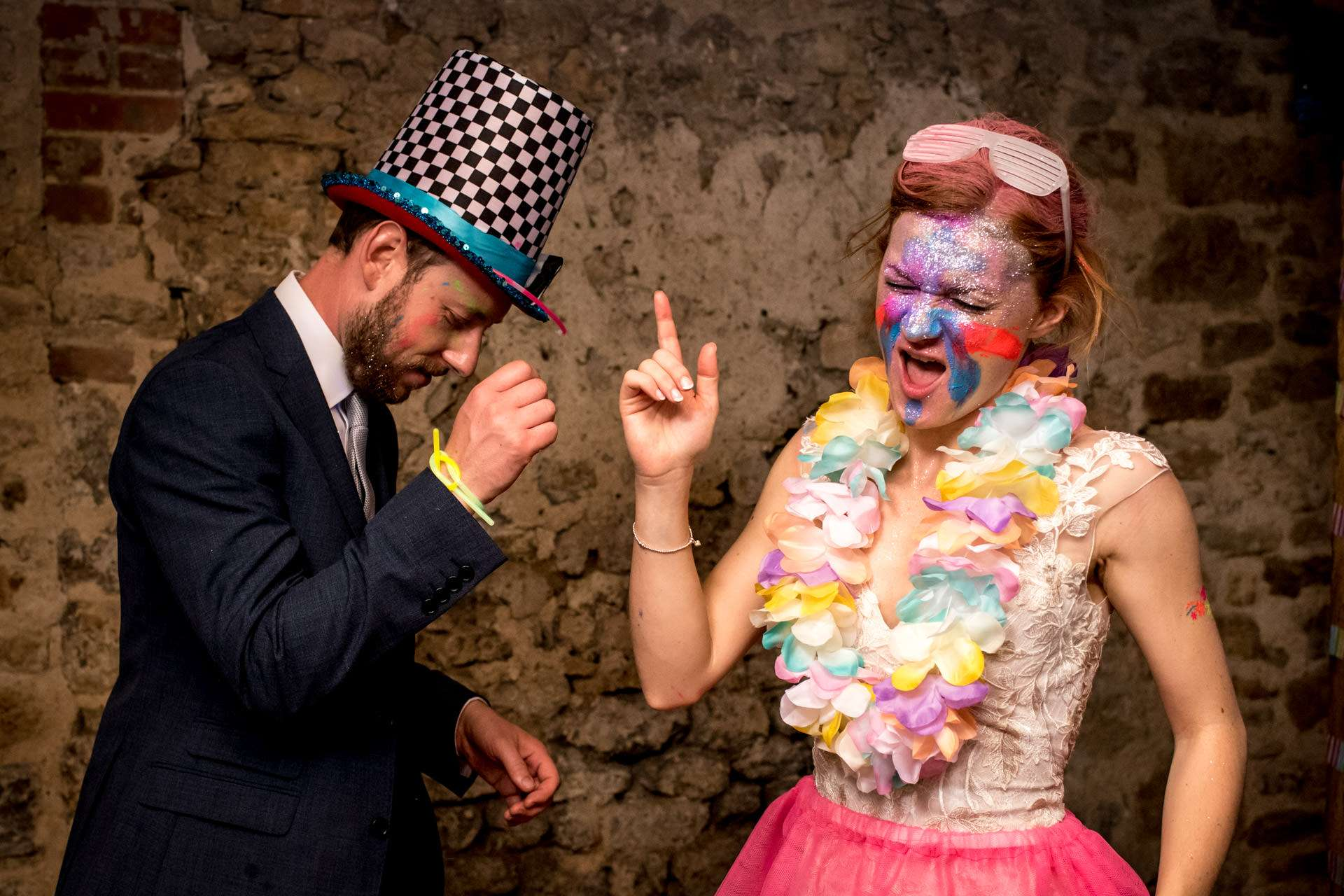 Bride and groom dancing in their fancy dress wedding entertainment