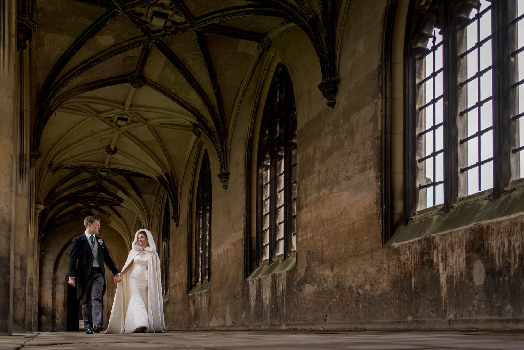 Game of throne themed bridal portraits at St John's College Cambridge