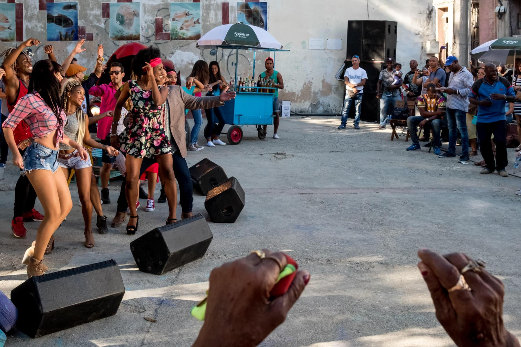 Cuban music video being made in Havana's old town