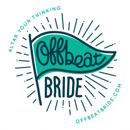 Wedding badge for offbeat bride blog
