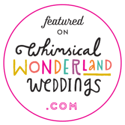 badge for the whimsical wonderland weddings blog