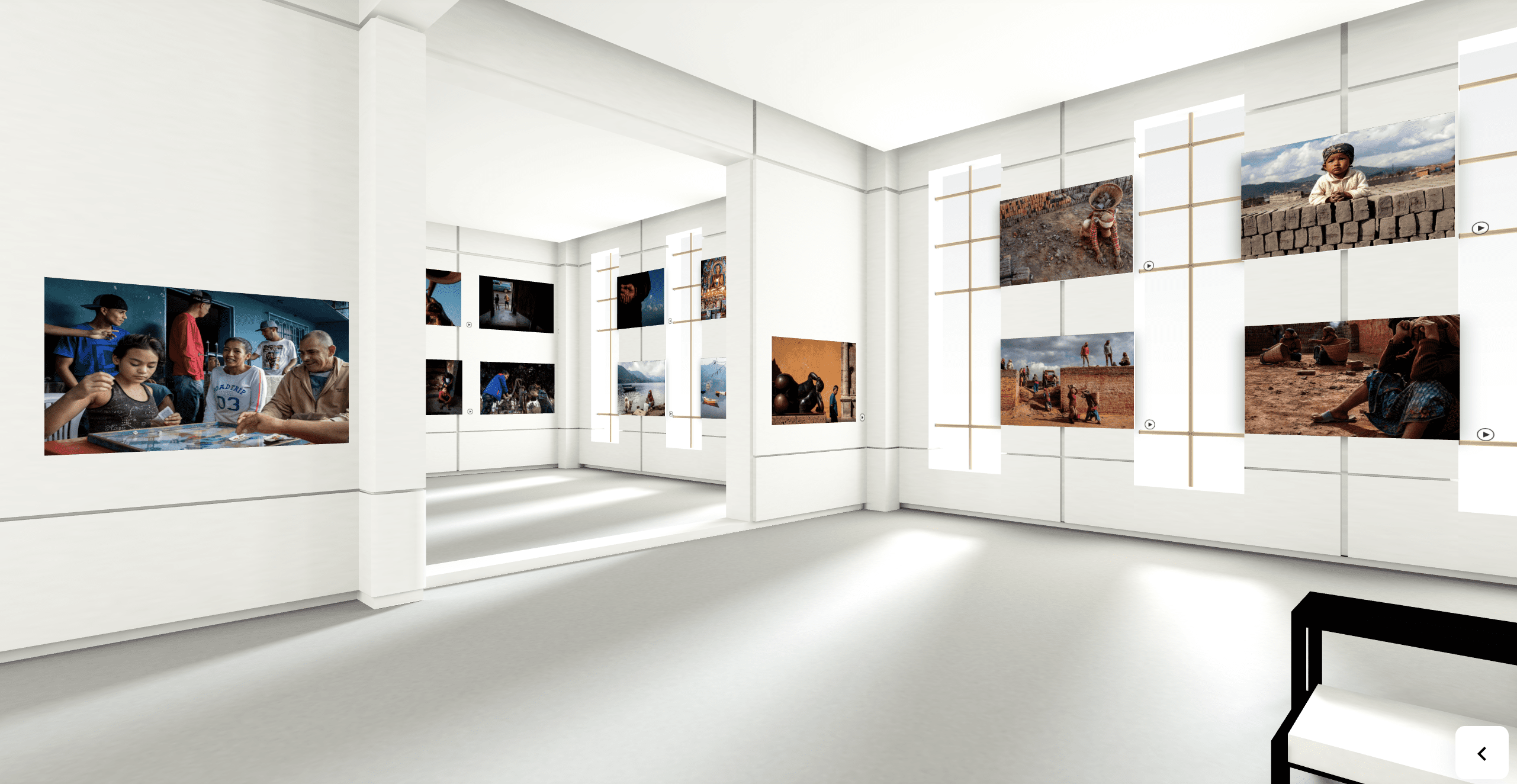 Photo of a 3D Gallery for a virtual Street Photography exhibition