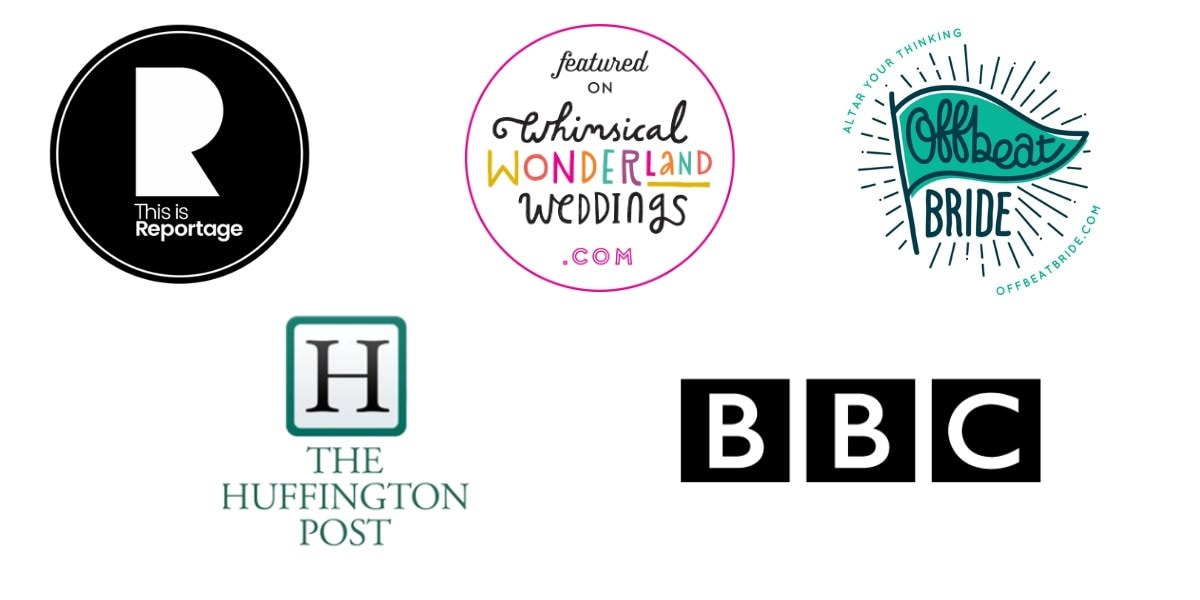 more logos of wedding online publications