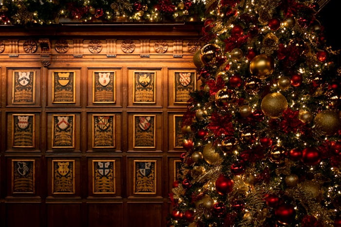 Christmas tree in Middle Temple in London