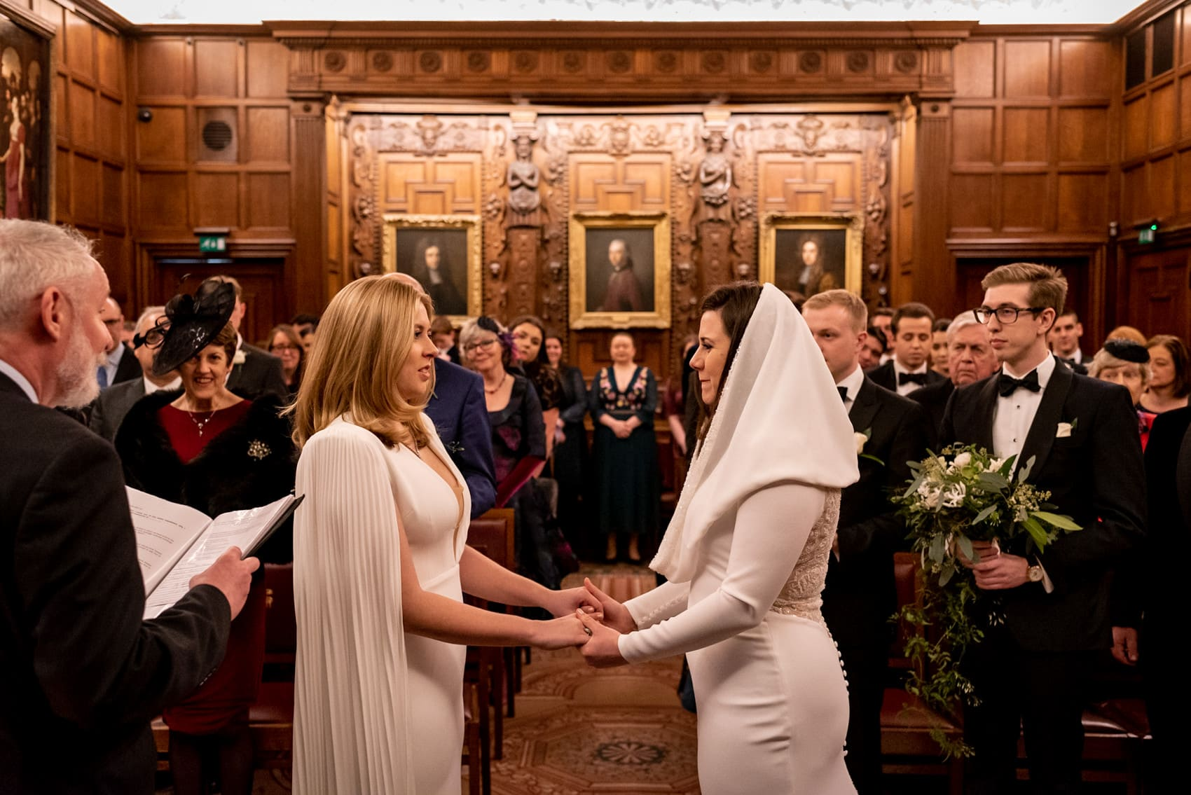 two brides getting married in Middle temple