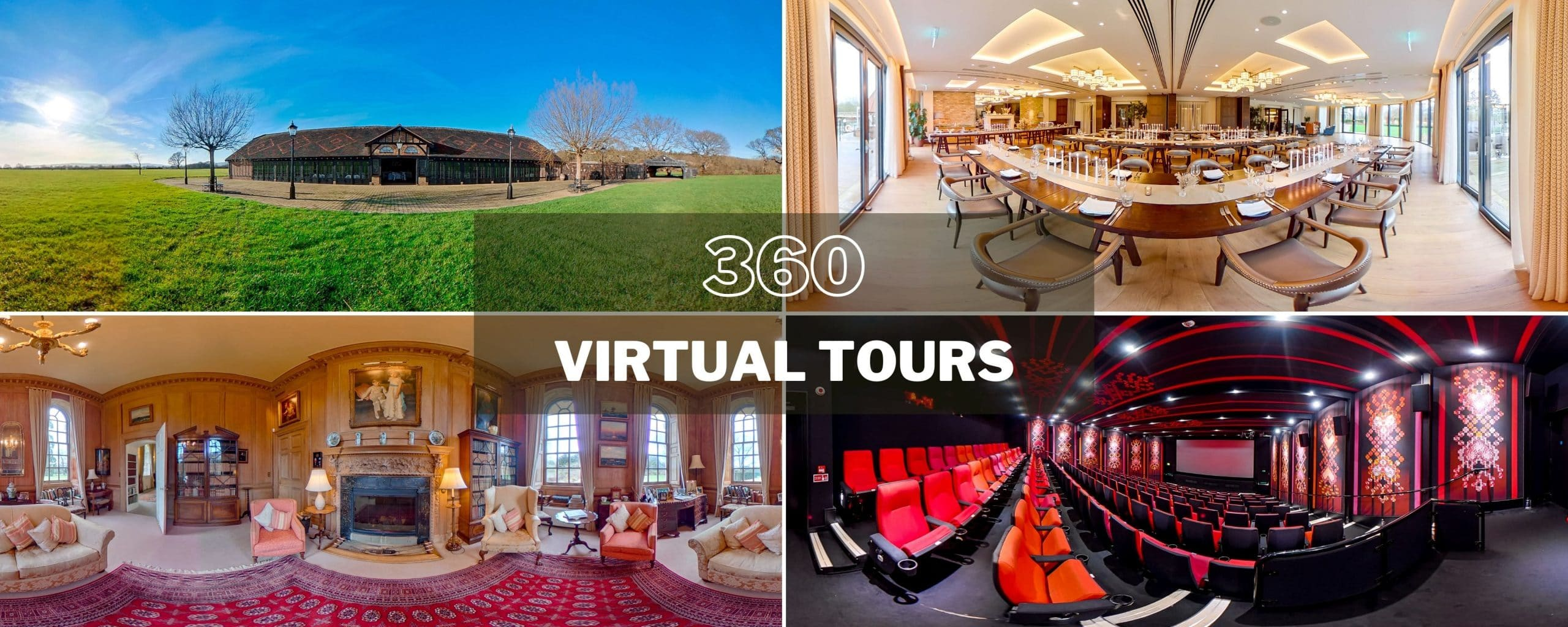 selection of images of 360 virtual tours