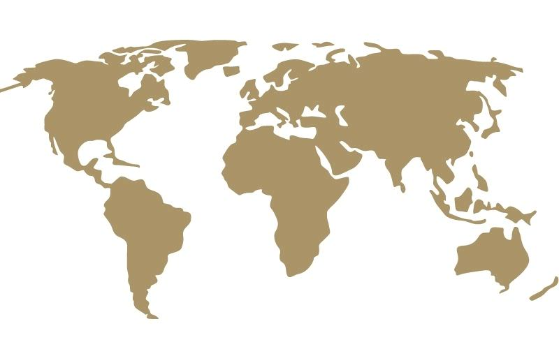 Gold Map of the world